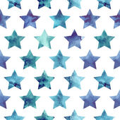 Seamless pattern with watercolor stars Vector illustration