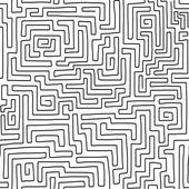 Seamless hand drawn labyrinth pattern Vector illustration