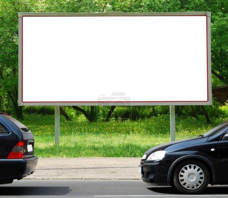 Photo pour Panneau d'affichage dans la rue - image libre de droit