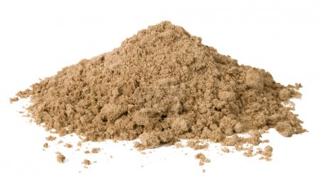 Photo pour Tas de sable isolé sur blanc - image libre de droit
