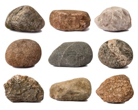 Rocks isolated on white...