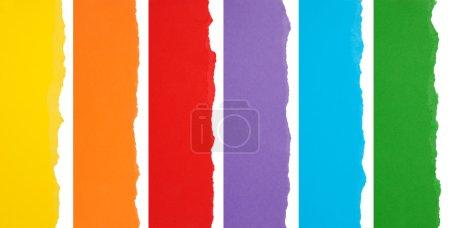 Photo pour Collection de papier déchiré coloré - image libre de droit