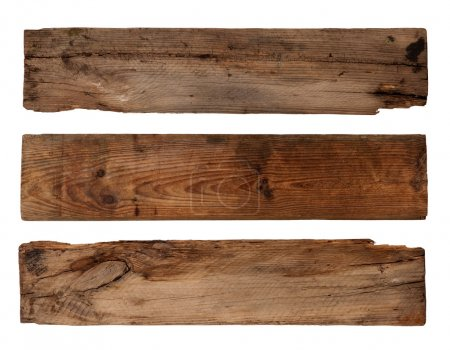 Photo for Old planks isolated on white - Royalty Free Image