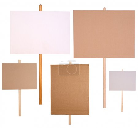 Photo for Protest signs isolated on white background - Royalty Free Image