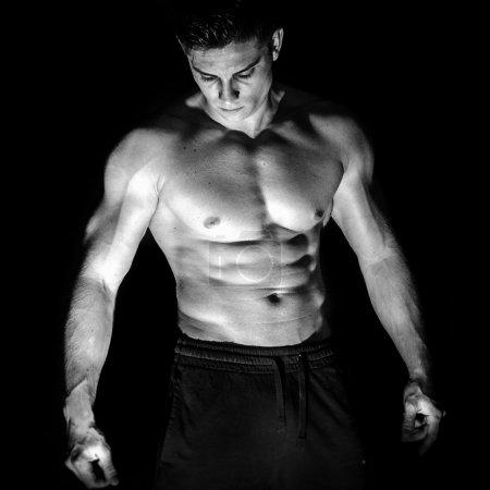 Portrait of younng muscular man shirtless