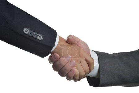 Photo pour Clôture d'un important contrat d'affaires entre deux entreprises - image libre de droit