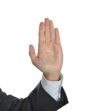 Executive hand symbol stop