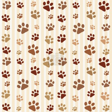 Photo for Brown footprints seamless pattern - Royalty Free Image