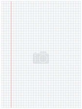 Illustration for White squared paper sheet background - Royalty Free Image