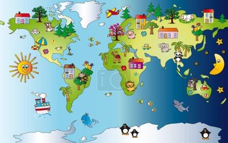 Photo pour Illustration fantaisie mondiale - image libre de droit