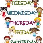 Days of week illustration