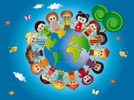 Photo pour Monde des enfants - image libre de droit