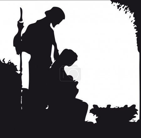 Photo for Nativity silhouette - Royalty Free Image