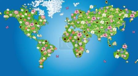 Photo pour Monde de fleurs - image libre de droit