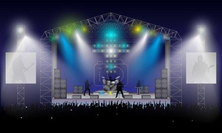 Rock Concert. Vector.