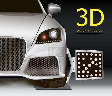 3D wheel alignment