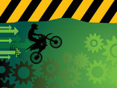 Motocross background with space for text