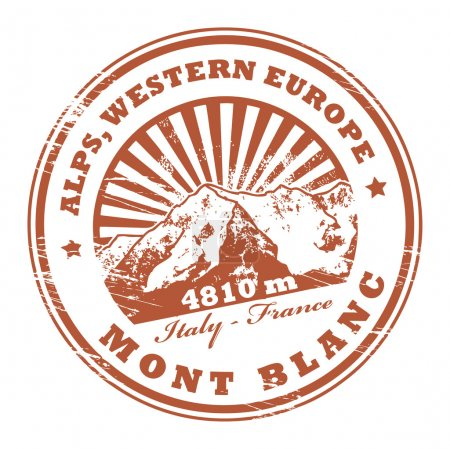 Mont Blanc, Alps stamp