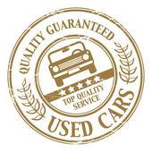 Használt autók bélyegző