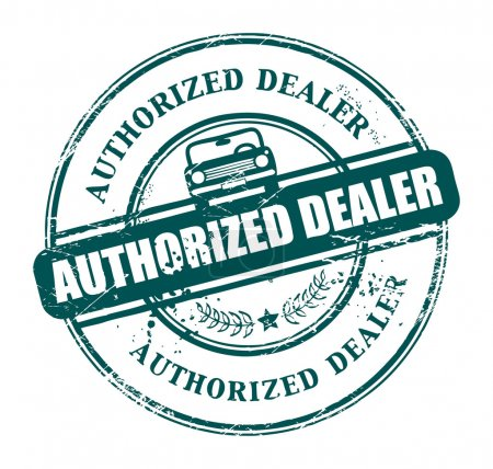 Authorized dealer stamp