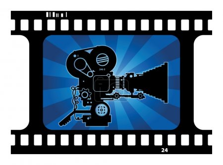 Background with movie camera