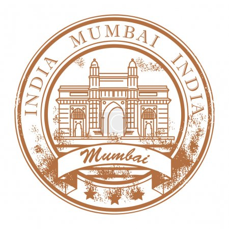 Mumbai, India stamp
