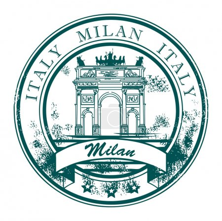 Milan, Italy stamp