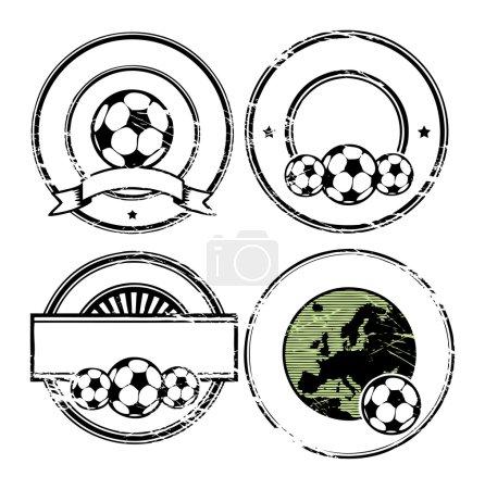 Soccer theme stamp