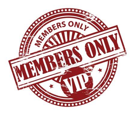 Membres seulement, timbre VIP