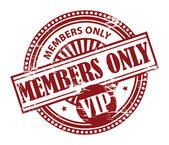 Members Only VIP stamp