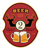 2 Deer Beer label