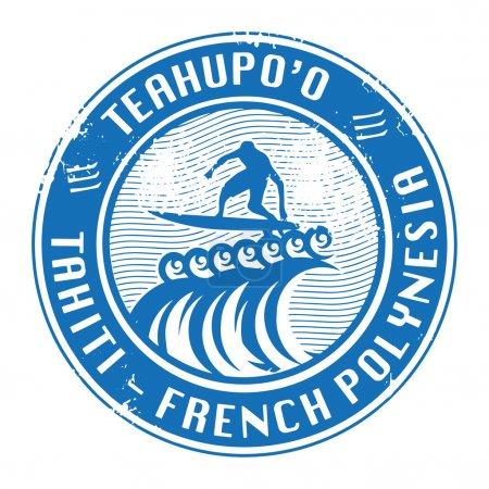 Teahup'o, Tahiti stamp