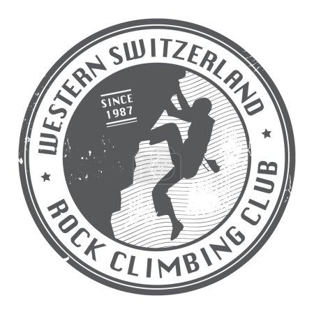 Rock climbing stamp