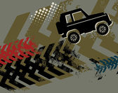 Off Road Car abstract
