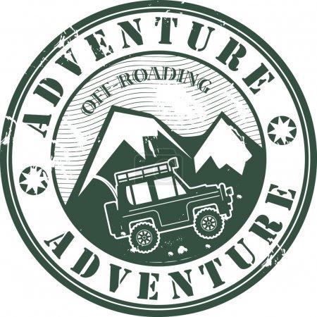 Offroad adventure stamp