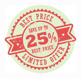 Best Price Limited Offer stamp