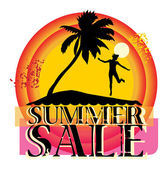 Summer sale abstract label