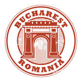 Bucharest Romania stamp