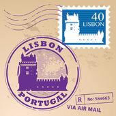Lisbon Portugal stamp