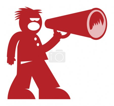 Illustration for Man with Megaphone - Royalty Free Image