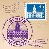 Dublin Ireland stamp