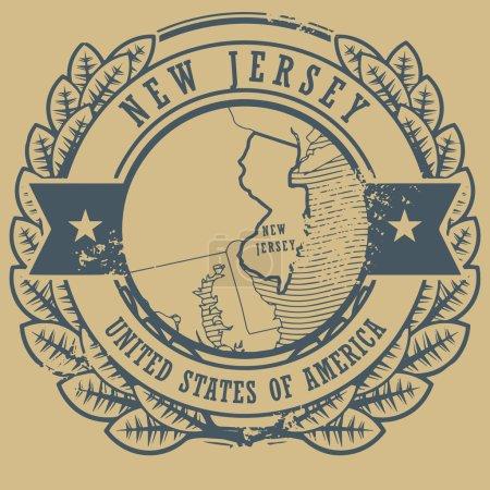 New Jersey, USA stamp