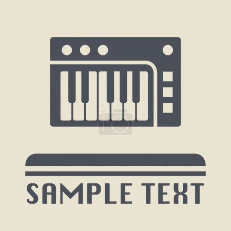 Musical instrument icon or sign, vector illustration