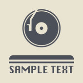 Turntable icon or sign vector illustration