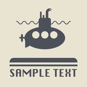 Submarine icon or sign