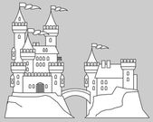 Castle fairy tale vector illustration
