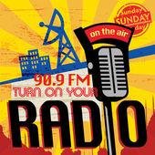 Vintage Radio station poster