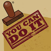 Stamp You Can Do It vector illustration