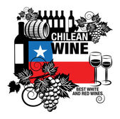 Stamp or label with words Chilean Wine vector illustration