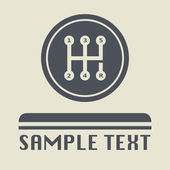 Gearshift icon or sign vector illustration